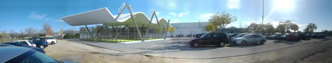 Offer court of paddle with a half roof - AMSA ARQUITECTURA SLP